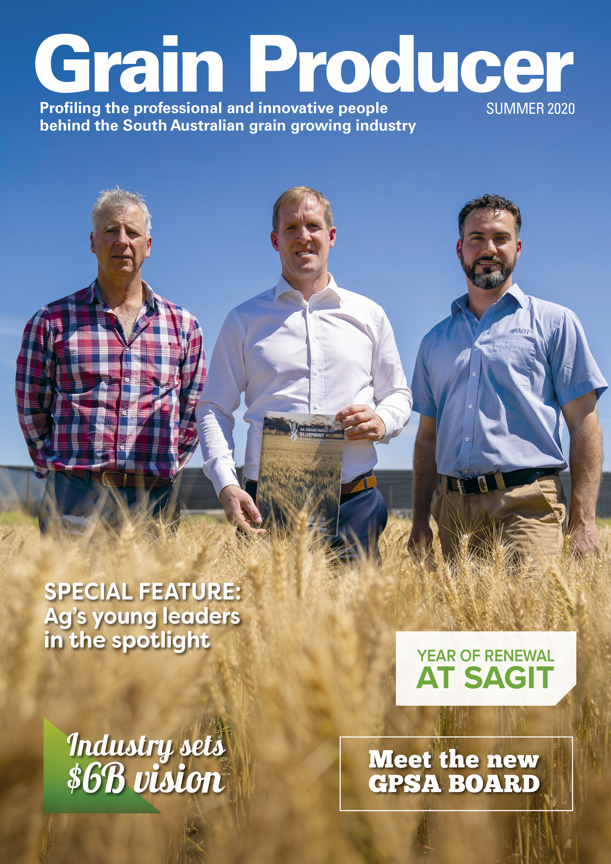 Front cover of Grain Producer - Summer 2020 edition